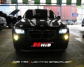 Headlamp DS Version BMW X1 + DS HID 6000K ( Headlamp ) DS HID 3000K ( Foglamp )