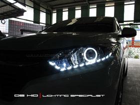 DS Projector Bixenon + DS HID 6000K + Angel Eyes + LED ( Headlamp ) DS HID 6000K ( Foglamp )