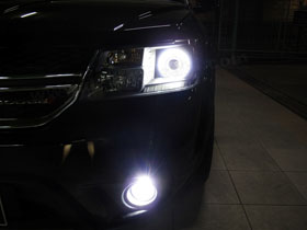 DS Projector Bixenon + DS HID 6000K + Angel Eyes LED ( Headlamp ) DS HID 6000K ( Foglamp )