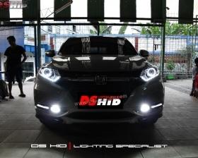 DS Projector Bixenon + DS HID 6000K + Angel Eyes + LED Strip ( Headlamp ) DS HID 6000K + DRL Honda HRV ( Foglamp )