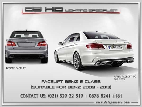 Mercedes Benz E Class 2009-2013 To 2015